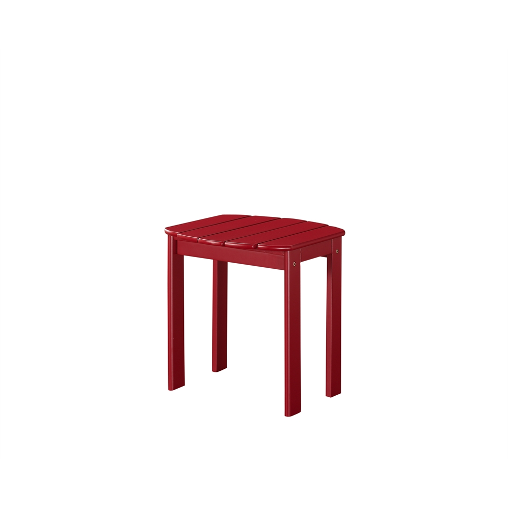 Red adirondack end table for Red side table