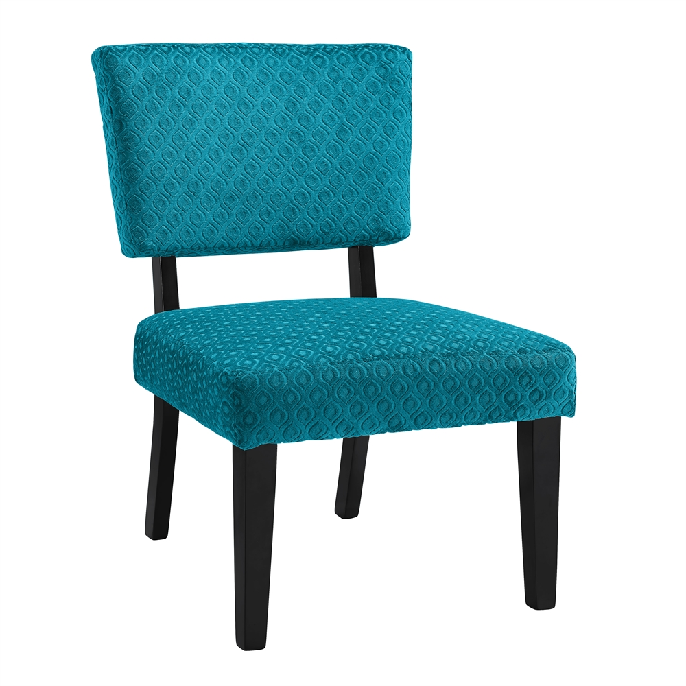 Taylor teal blue accent chair - Dark teal accent chair ...
