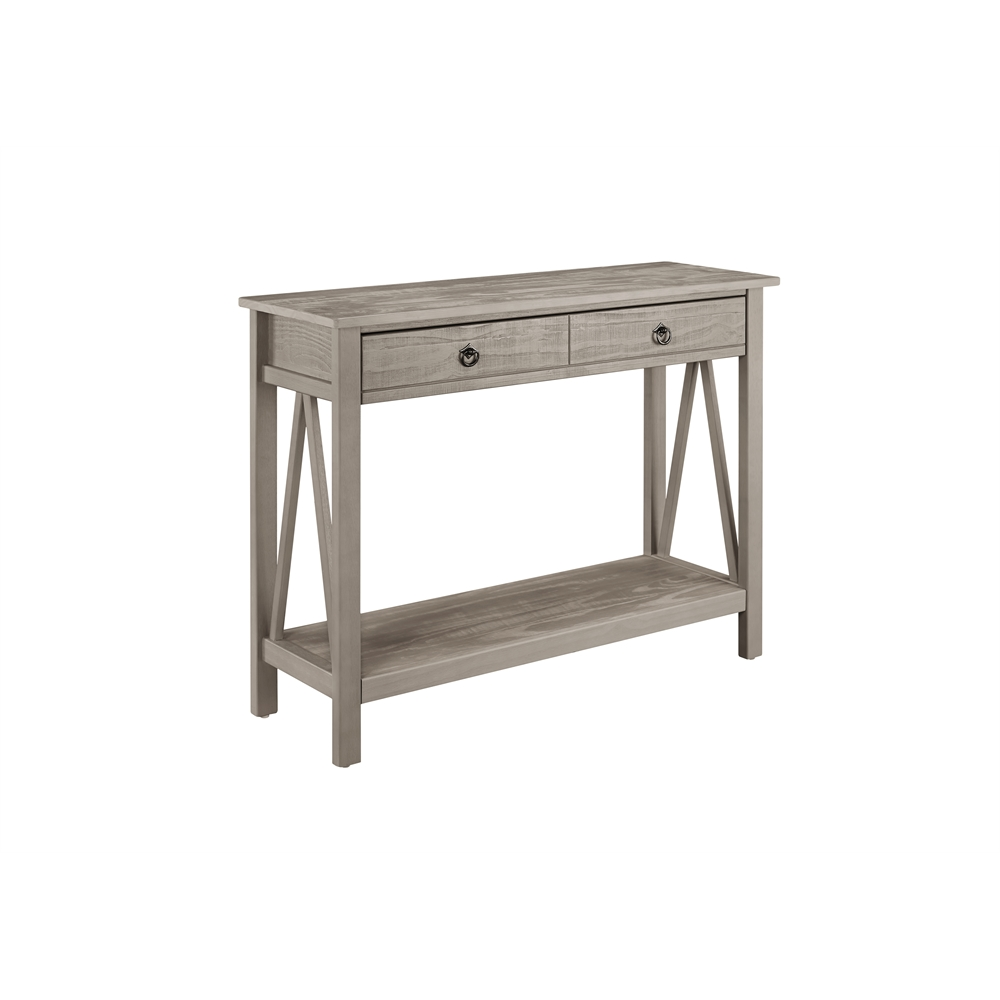 Titian rustic gray console table 42 w x x 30 7 h for 42 sofa table