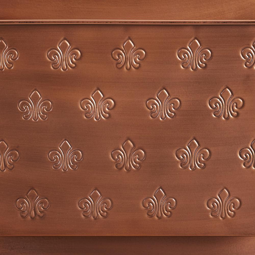 Four Slot Copper Fleur-de-lis Wall Mailbox. Picture 4