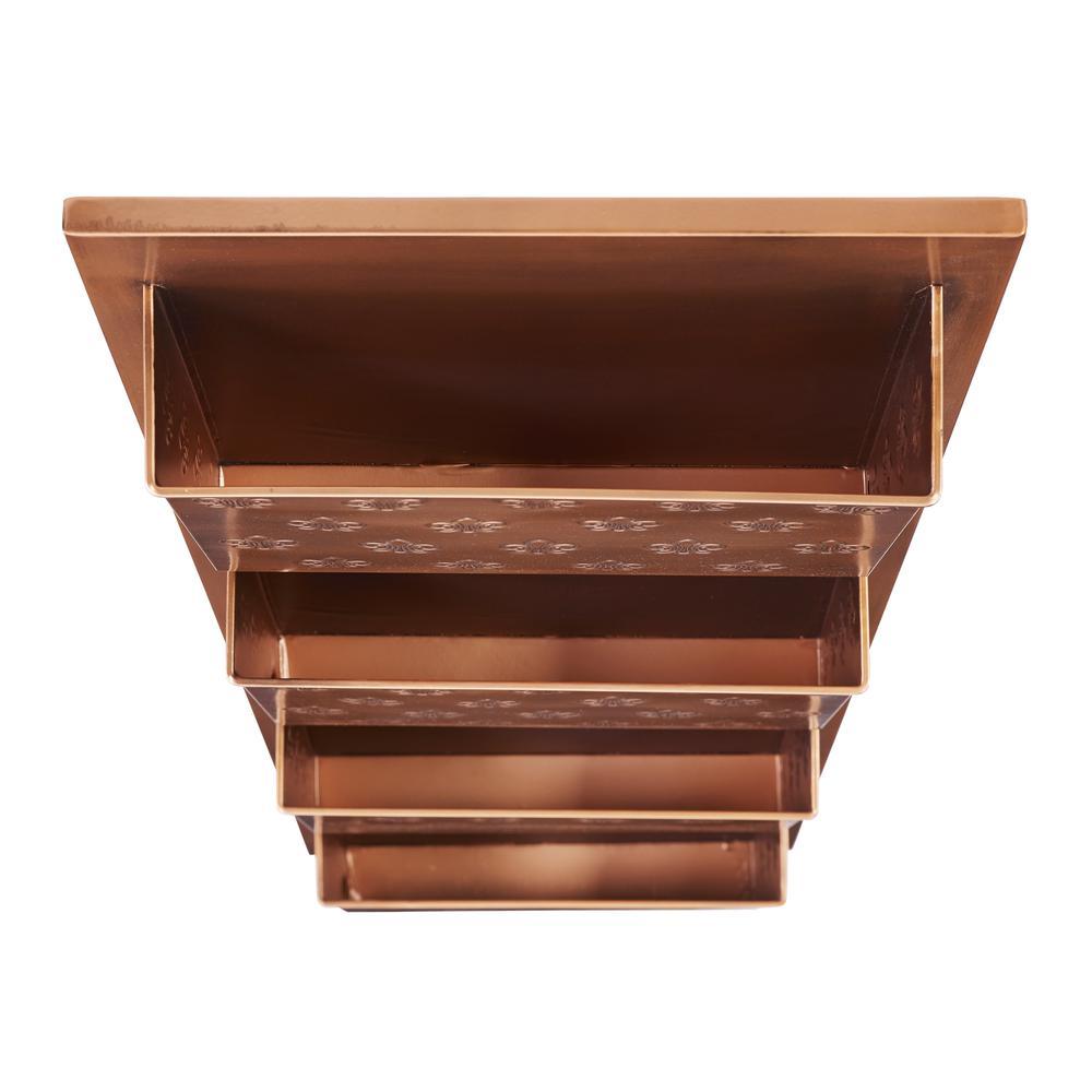 Four Slot Copper Fleur-de-lis Wall Mailbox. Picture 3