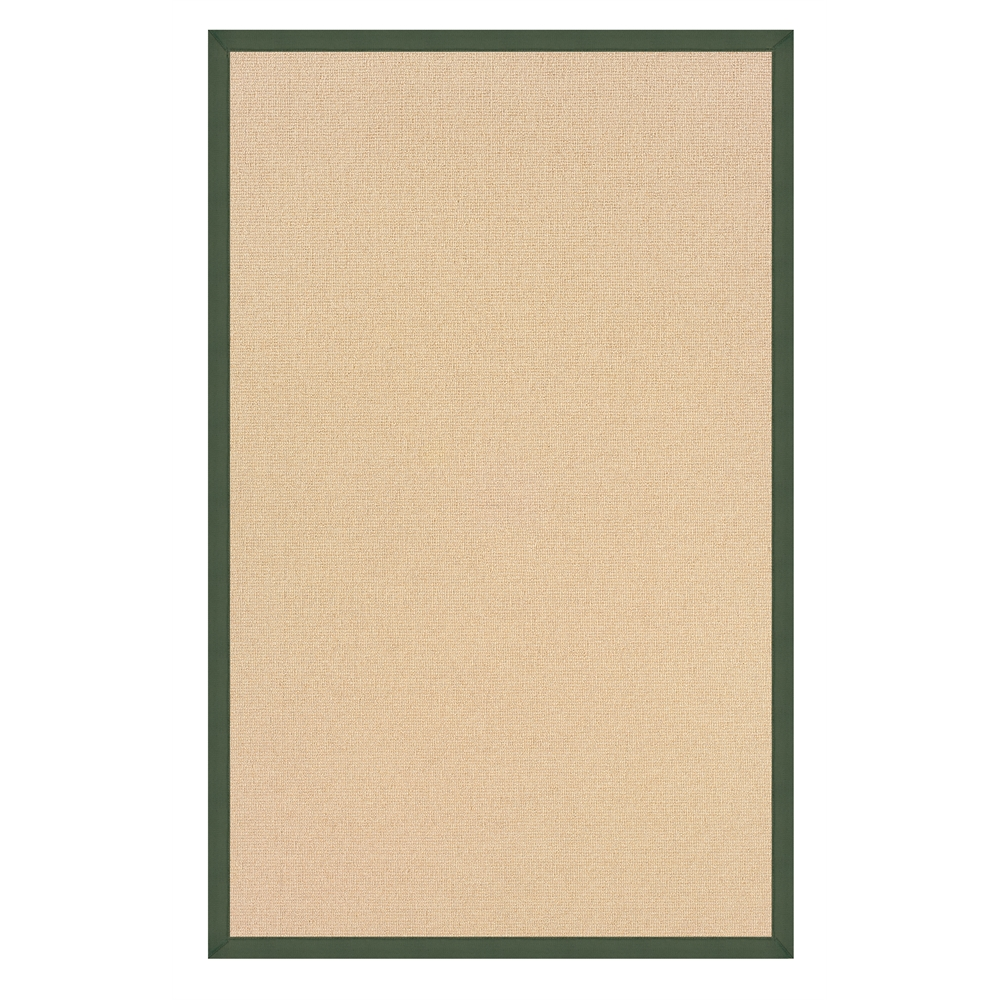 Athena Natural & Green Rug, Size 1.10 x 2.10. Picture 1