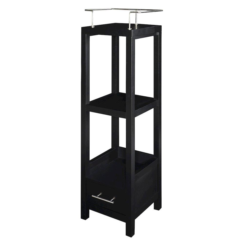 hoover black tall storage cabinet. Black Bedroom Furniture Sets. Home Design Ideas