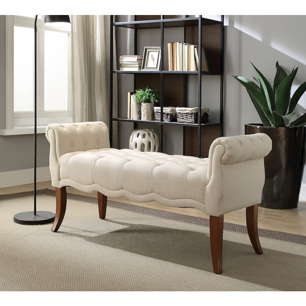 Madison Natural Roll Arm Bench. Picture 2