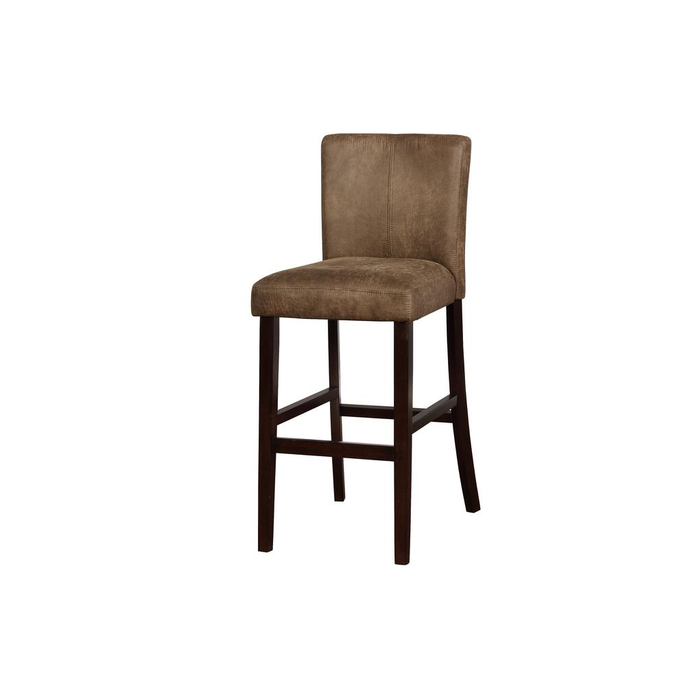 Morocco Distressed Brown Bar Stool. Picture 1