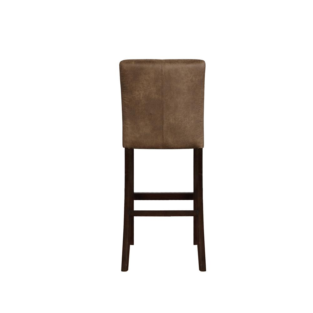 Morocco Distressed Brown Bar Stool. Picture 2