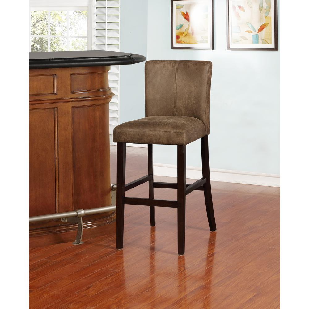 Morocco Distressed Brown Bar Stool. Picture 4