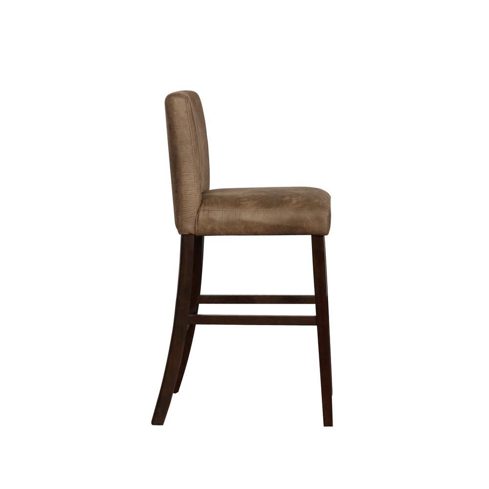 Morocco Distressed Brown Bar Stool. Picture 3