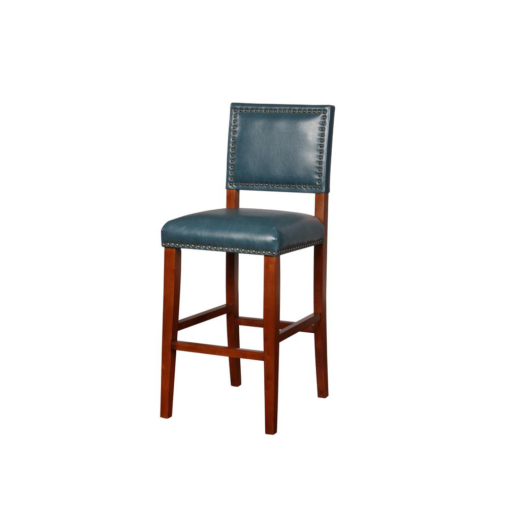 Brook Pacific Blue Bar Stool. Picture 1