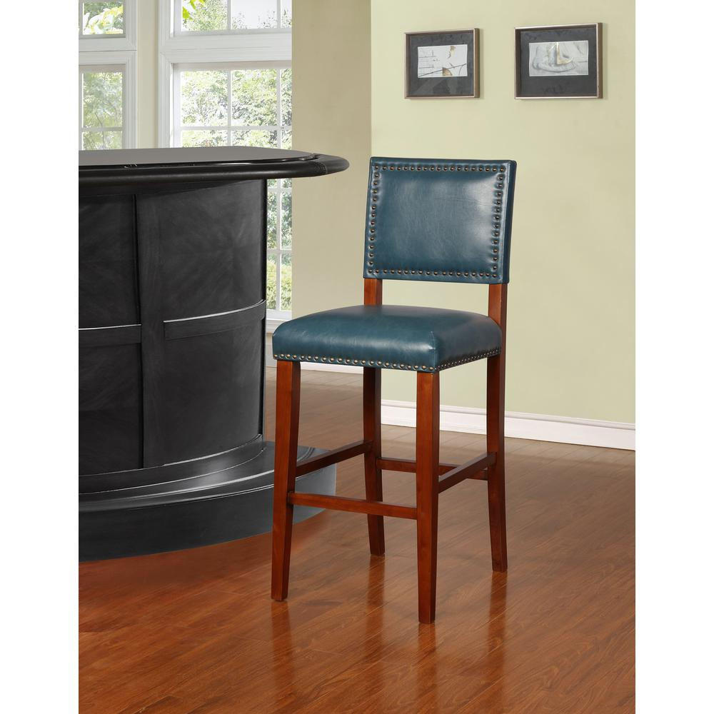 Brook Pacific Blue Bar Stool. Picture 4