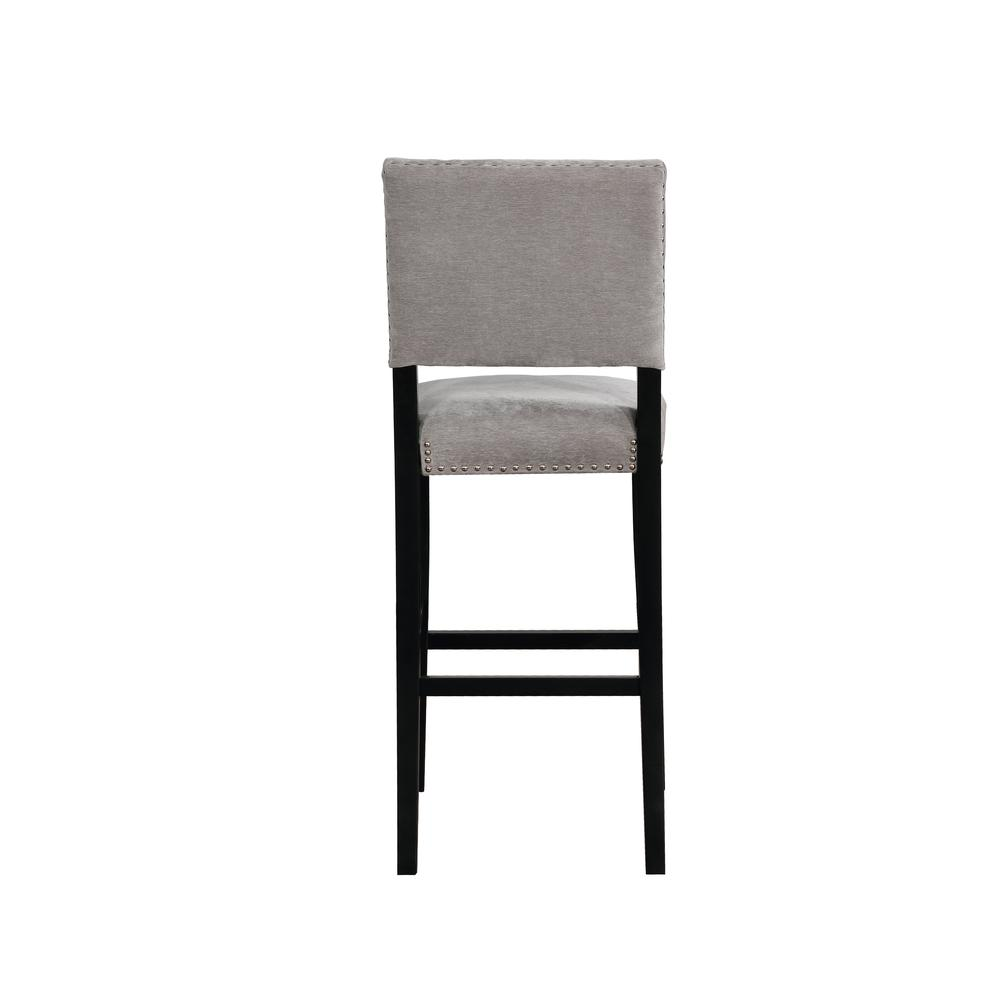Corey Dark Gray Washed Velvet Bar Stool. Picture 3