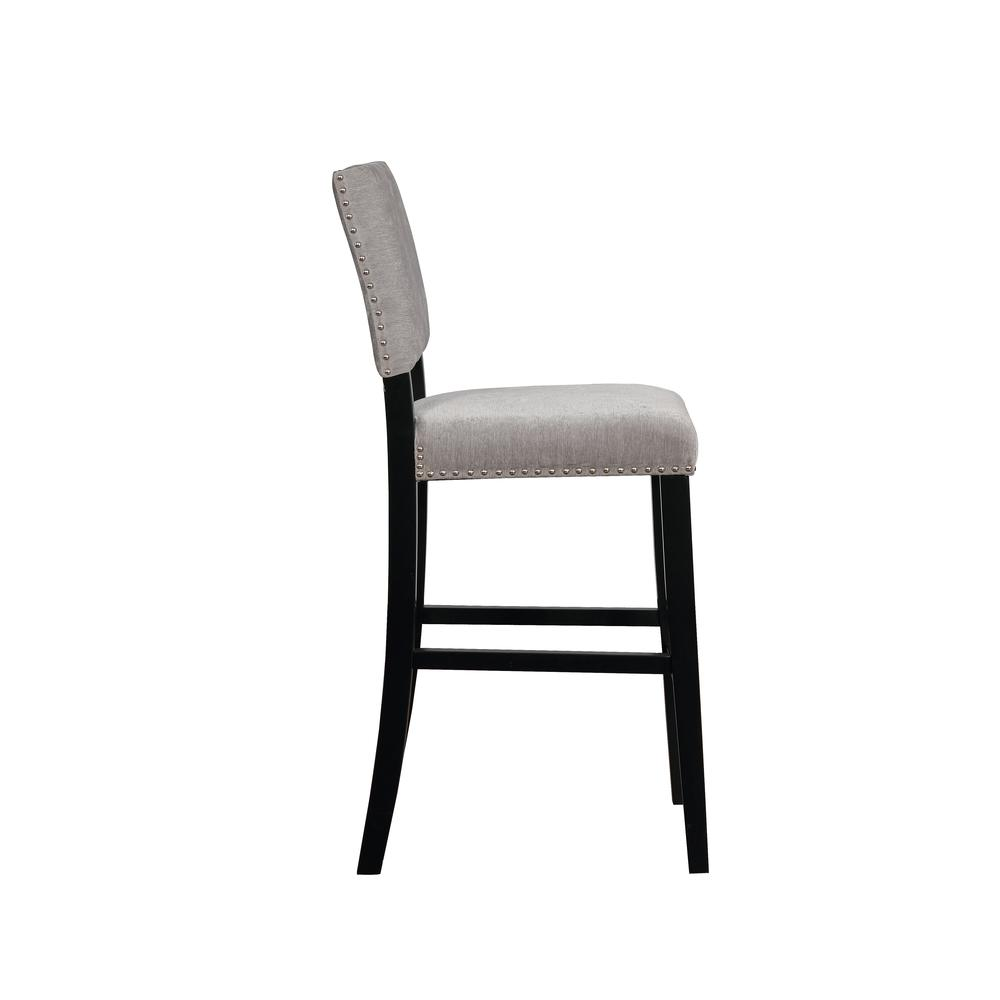 Corey Dark Gray Washed Velvet Bar Stool. Picture 2