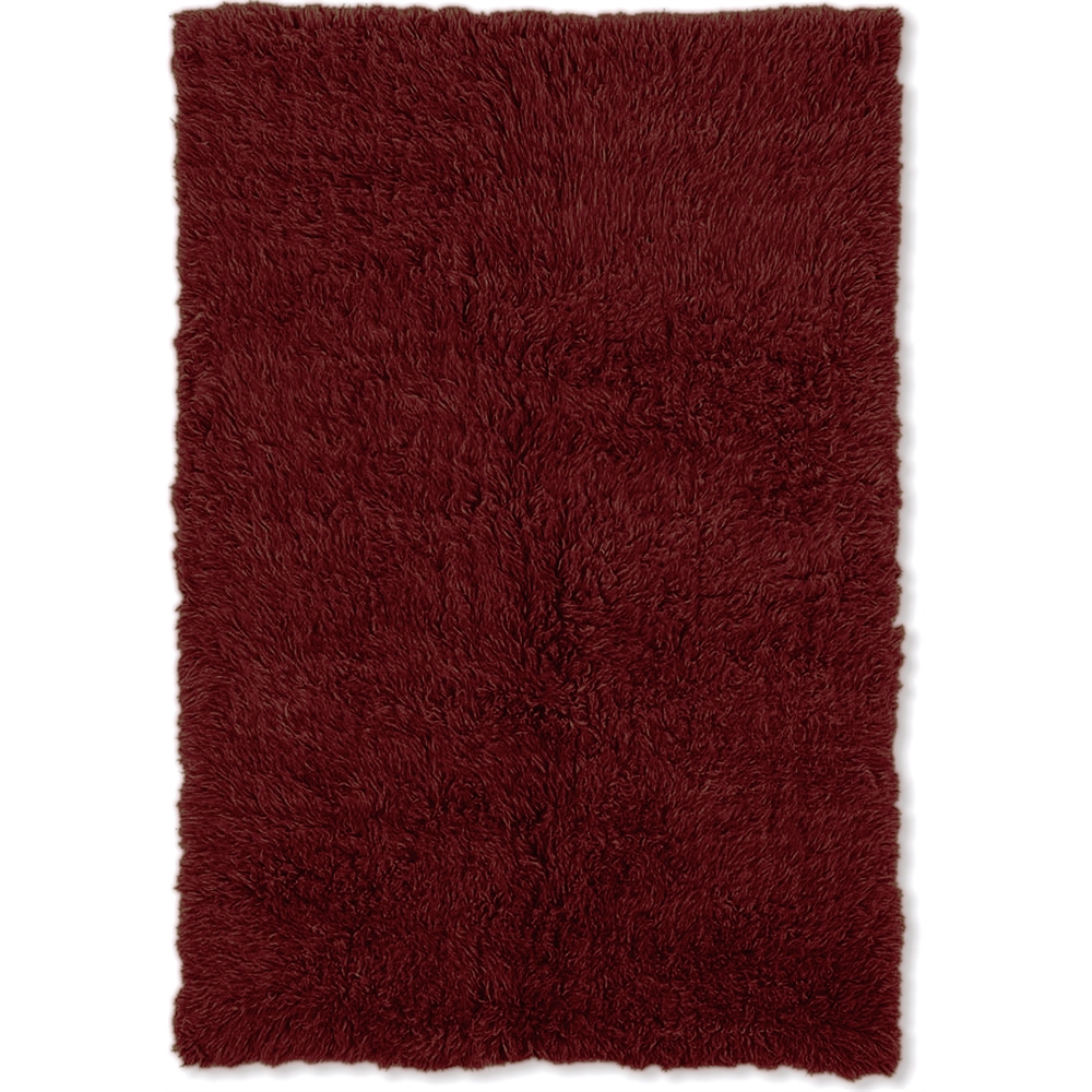New Flokati 1400grams Burgundy  2.4 x 4.3 Rug. Picture 1