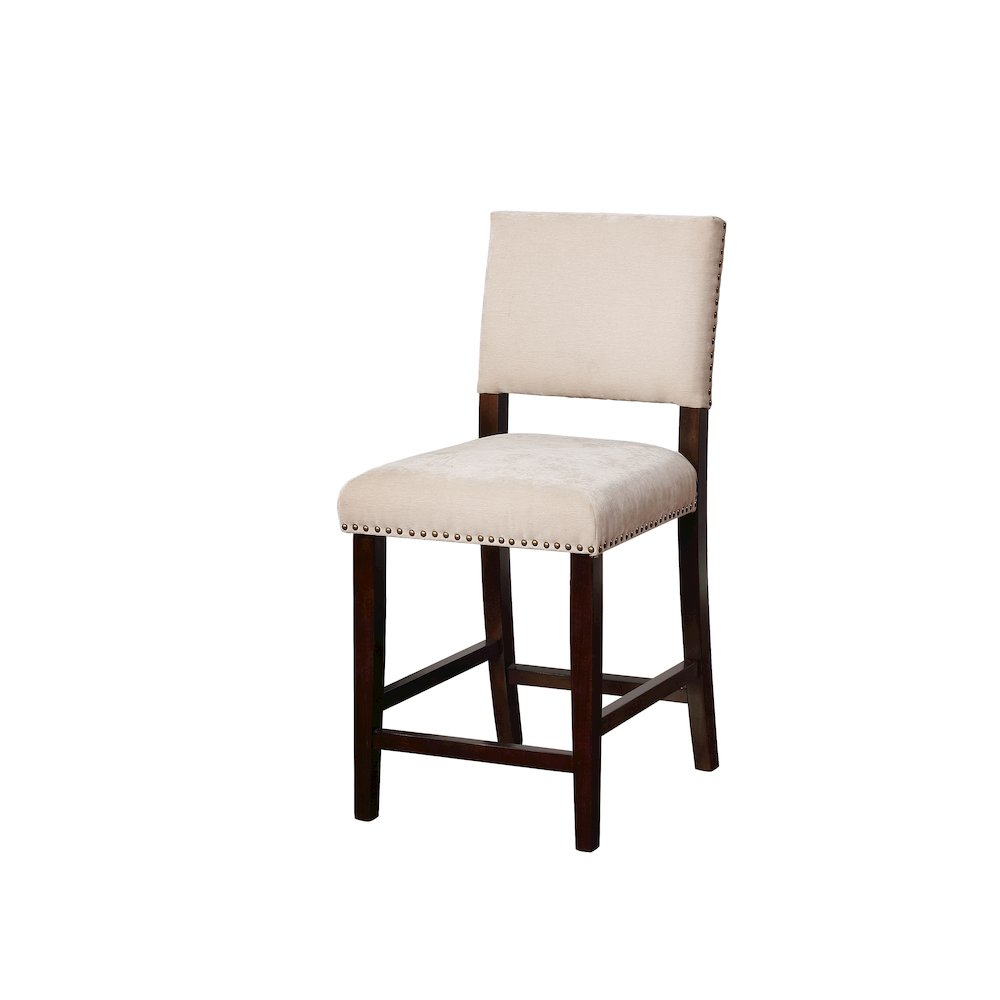 Corey Natural Washed Velvet Counter Stool. Picture 1