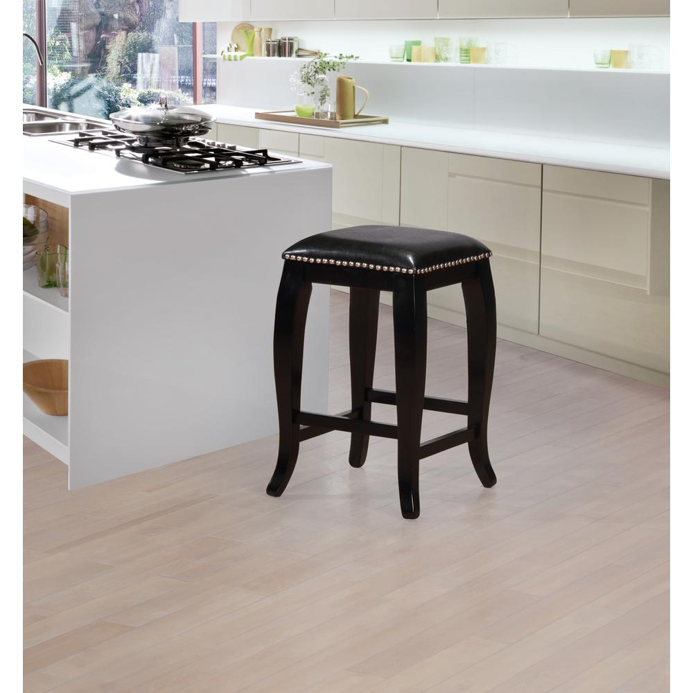 San Francisco Black Square Top Counter Stool. Picture 2