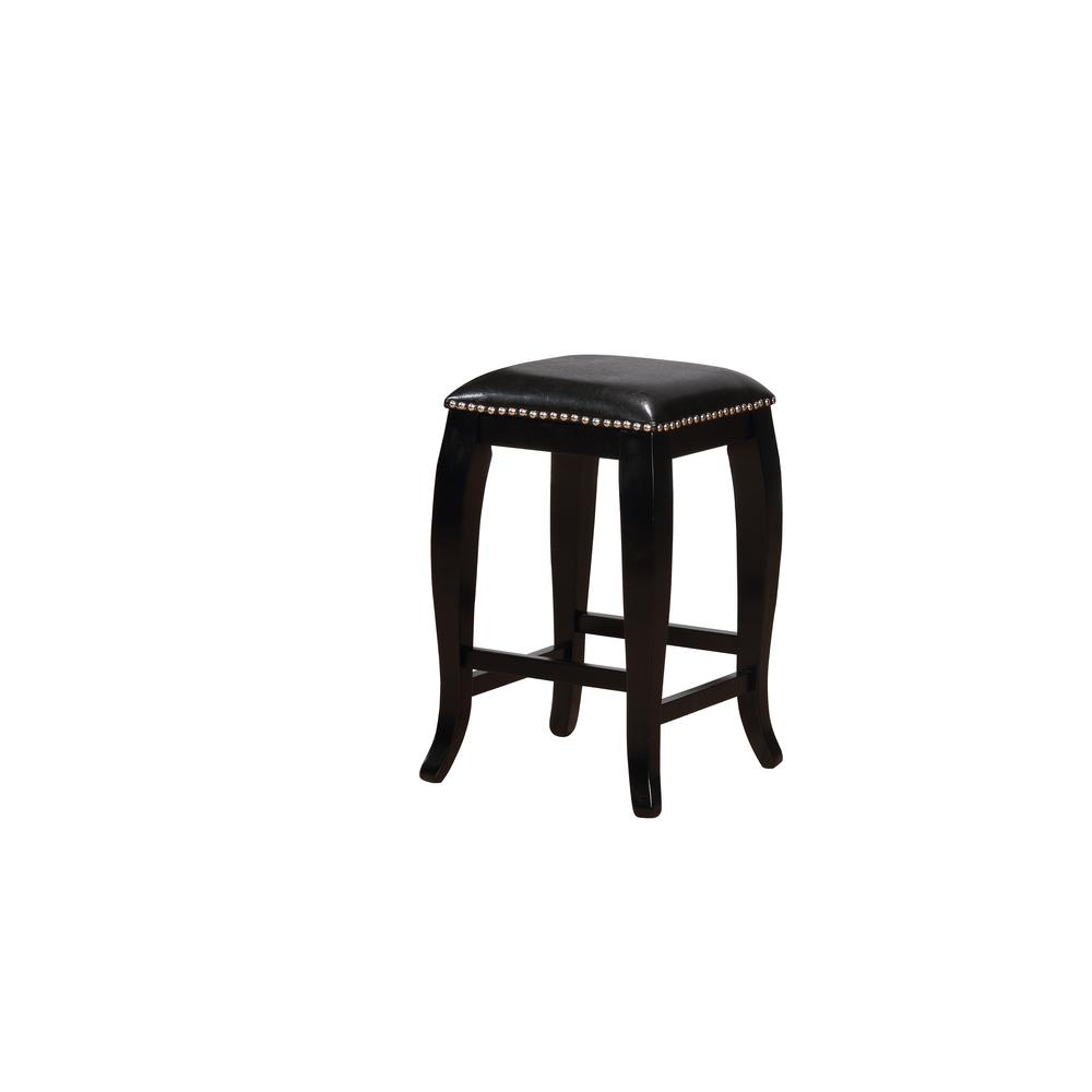 San Francisco Black Square Top Counter Stool. Picture 1