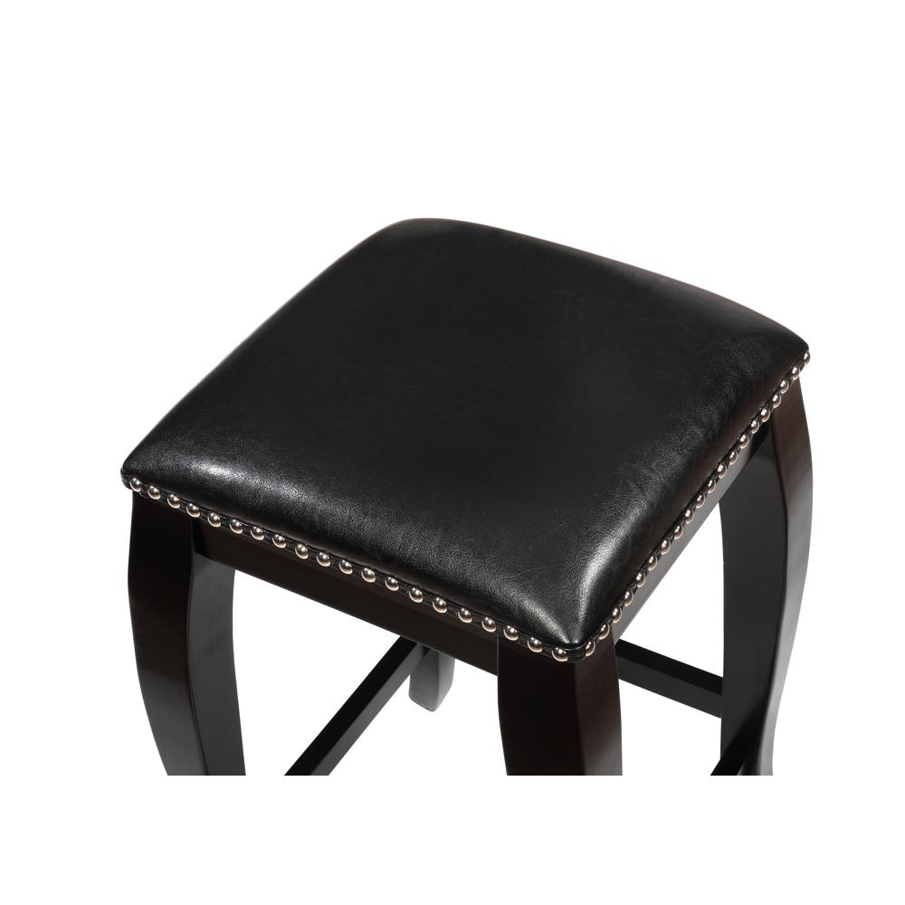 San Francisco Black Square Top Counter Stool. Picture 3