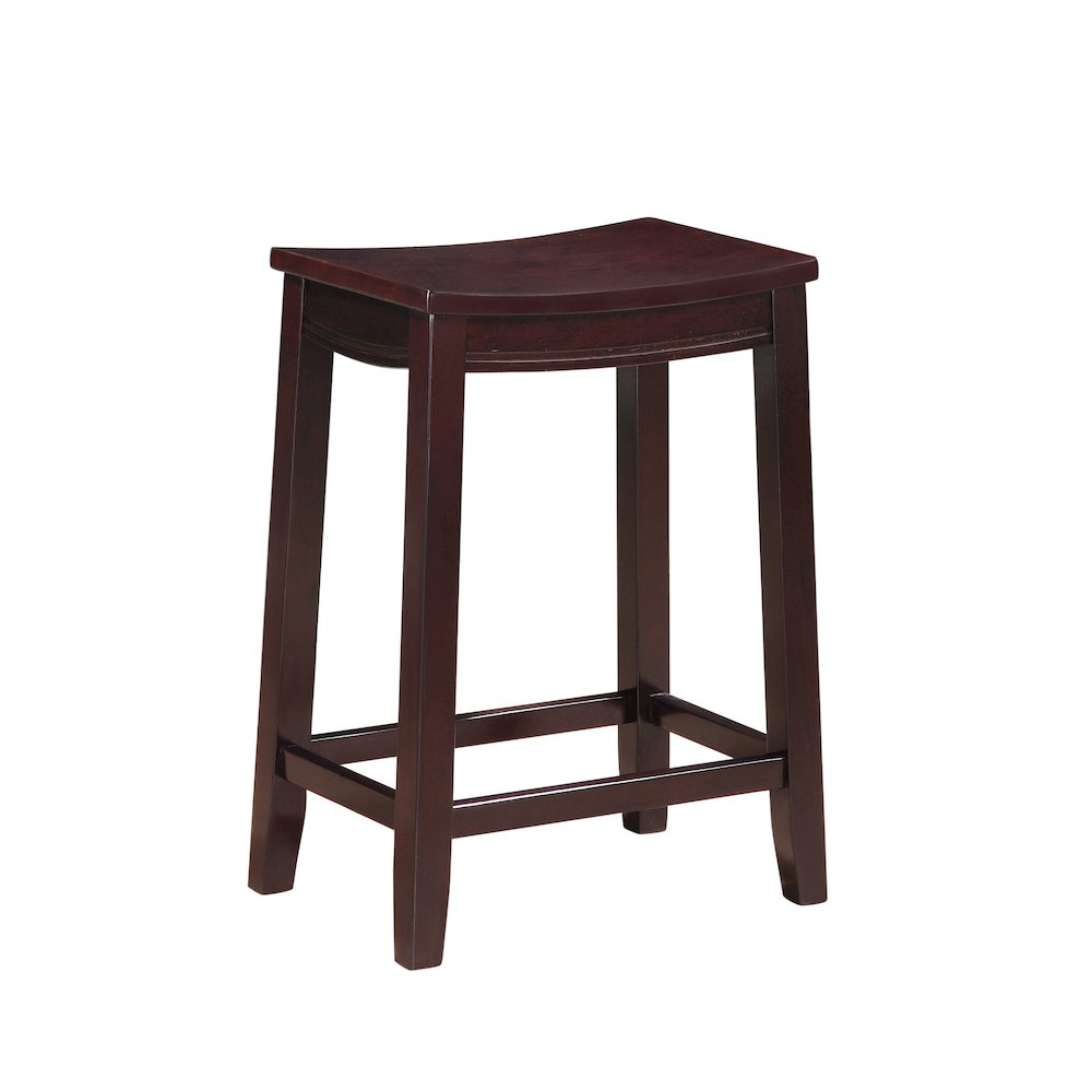 Aubree Wooden Counter Saddle Stool