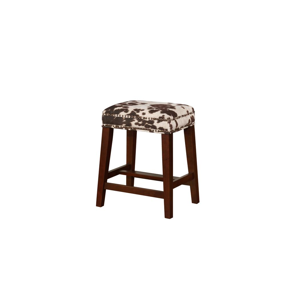 Walt Brown Cow Print Counter Stool