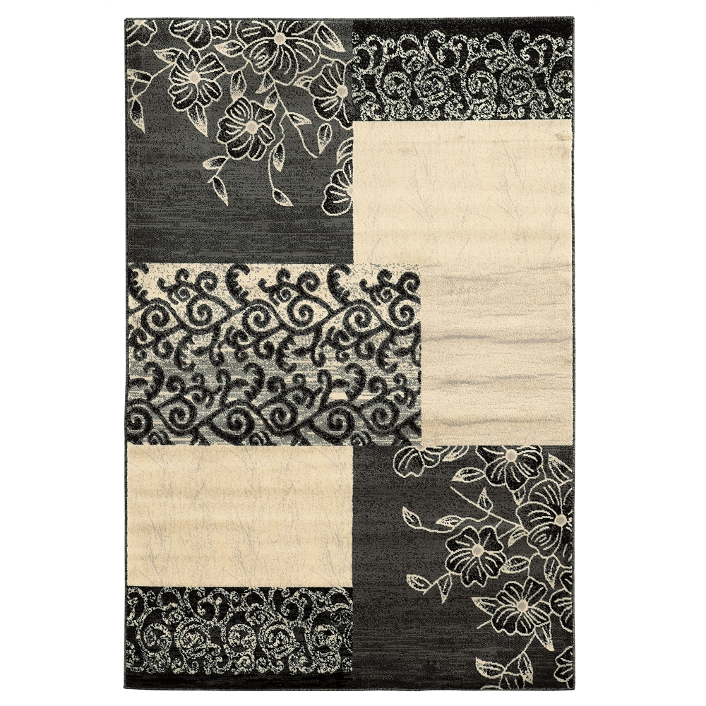 Elegance Napa Patchwork Grey Rug, Size 8' X 10'. Picture 1