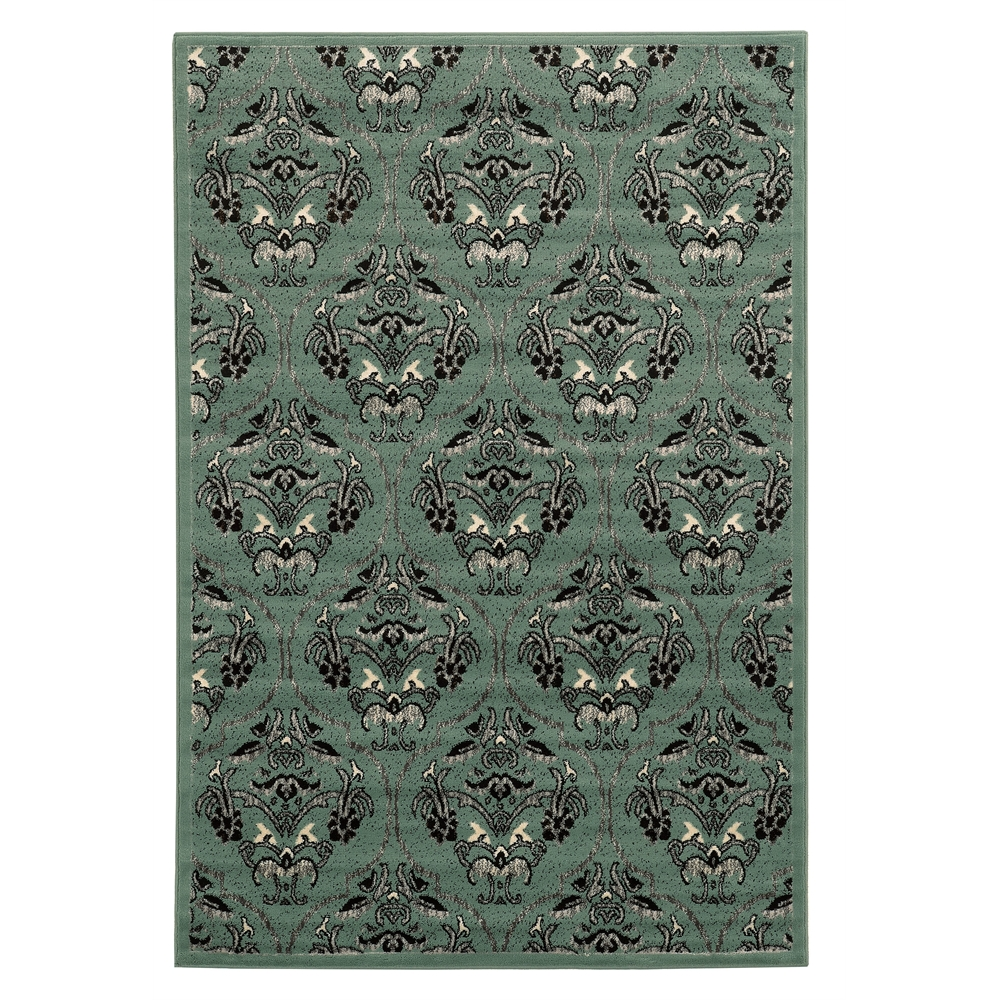 """Elegance England Blue Rug, Size 5' X 7'3"""". Picture 1"""