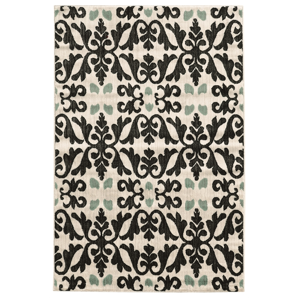 Elegance Florence Ivory Rug, Size 2' X 3'. Picture 1