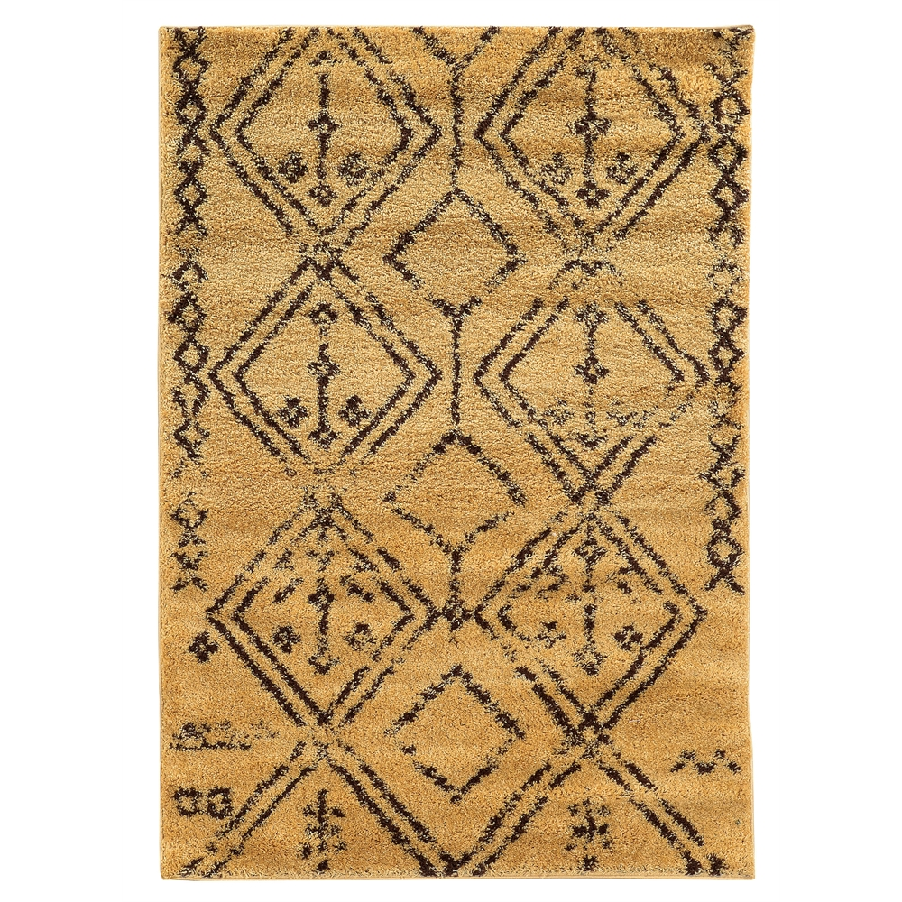 Moroccan Fes Camel/Brown 3x5 Rug. Picture 1
