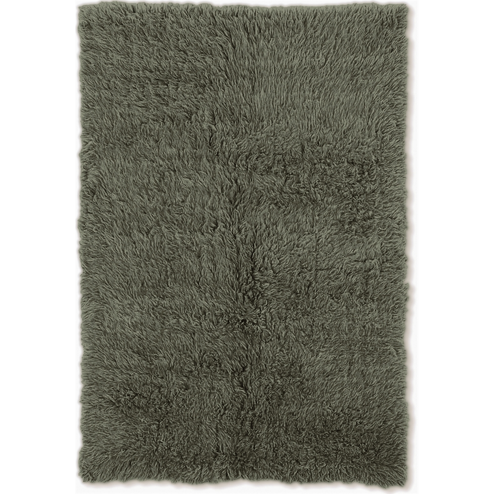 New Flokati 1400grams Olive  3.6 x 5.6 Rug. Picture 1