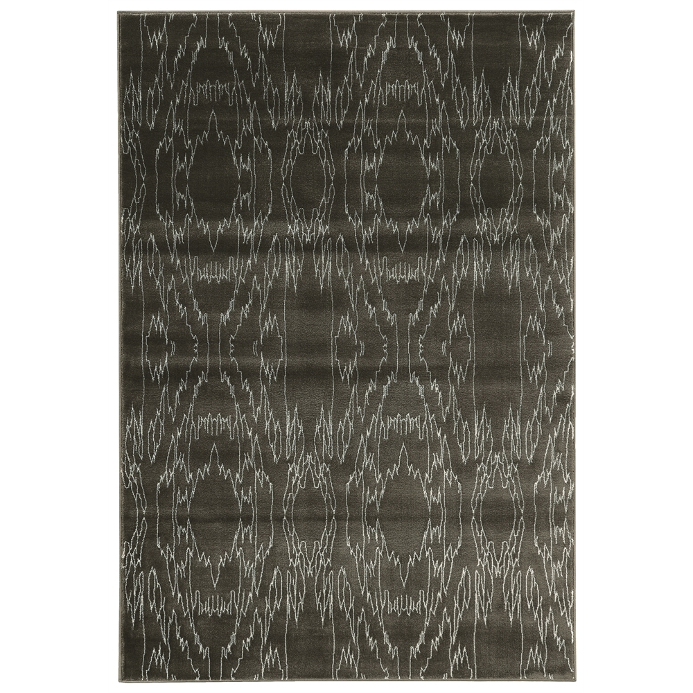 "Prisma Electric Charcoal Rug, Size 5'3""x7'6"". Picture 1"
