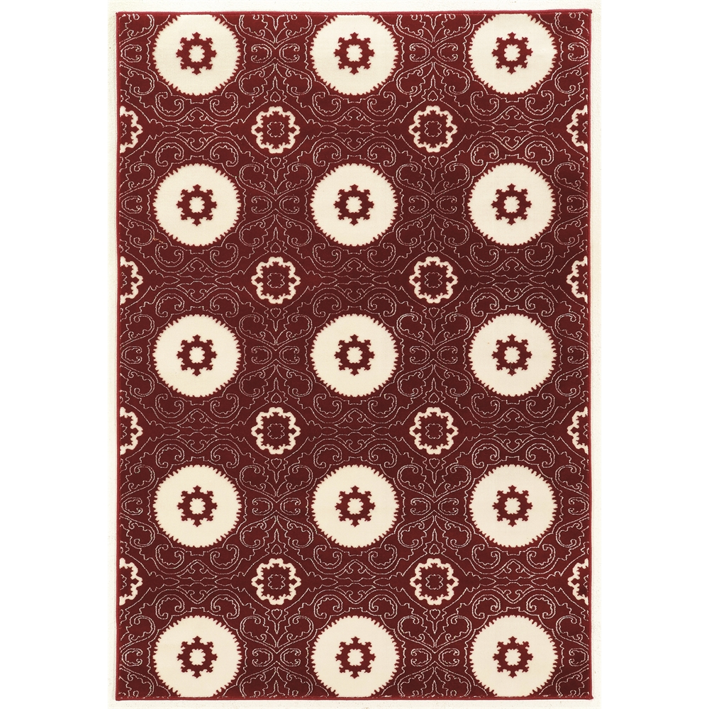"""Prisma Karma Red Rug, Size 5'3""""x7'6"""". Picture 1"""
