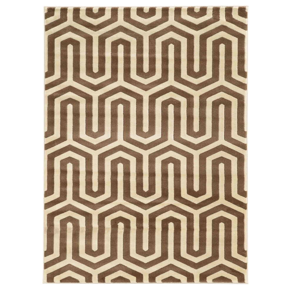 Roma Tangent Ivory/Bge 8x10 Rug. The main picture.