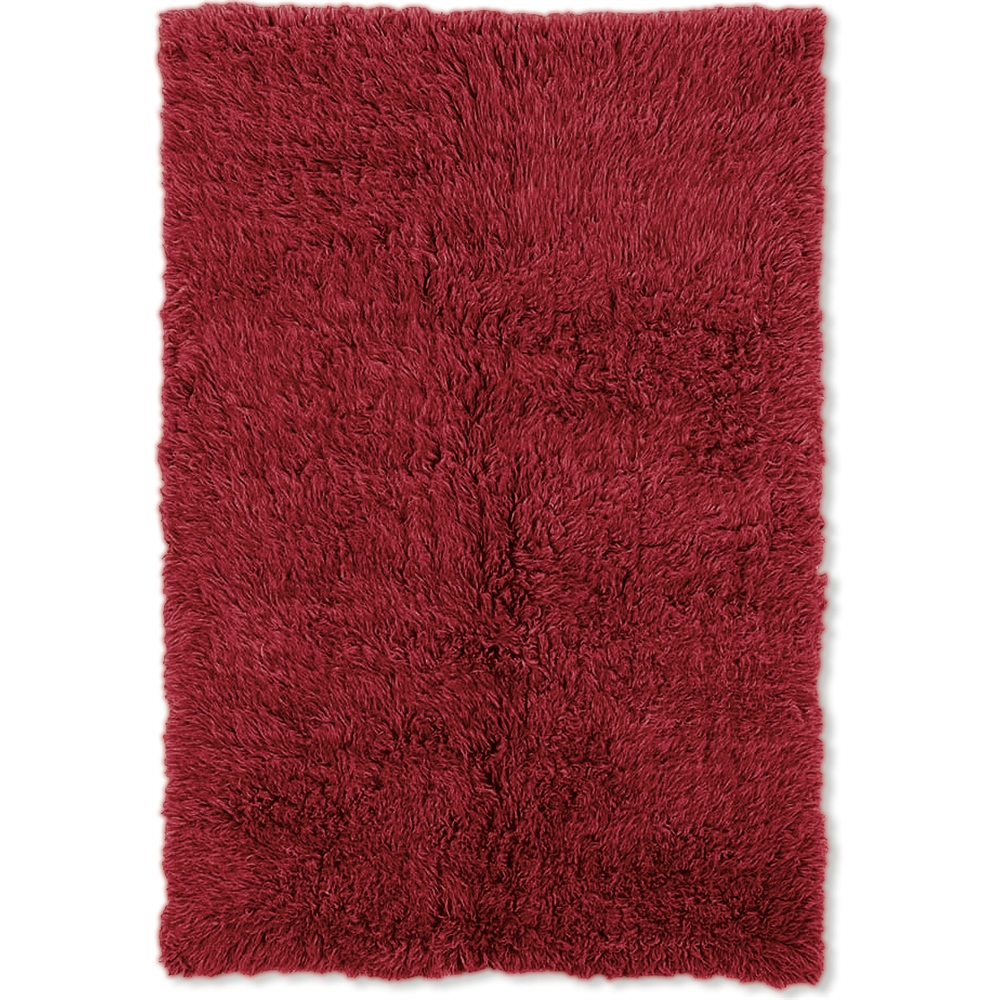 New Flokati 1400grams Red  5 x 8 Rug. Picture 1