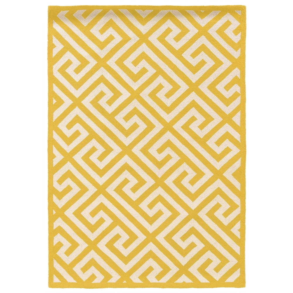 SILHOUETTE KEY YELLOW 5X7 Rug. Picture 1