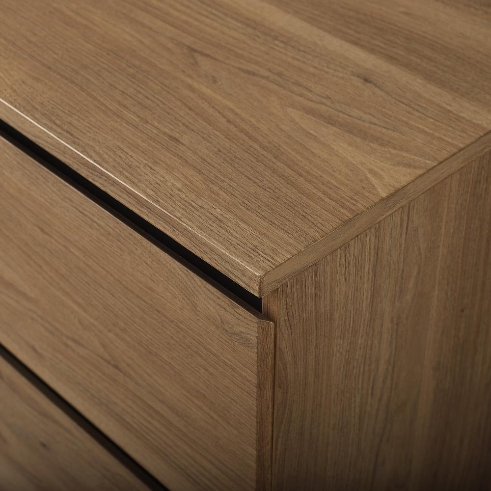 "52"" 4-Drawer Urban Storage Console - English Oak. Picture 15"