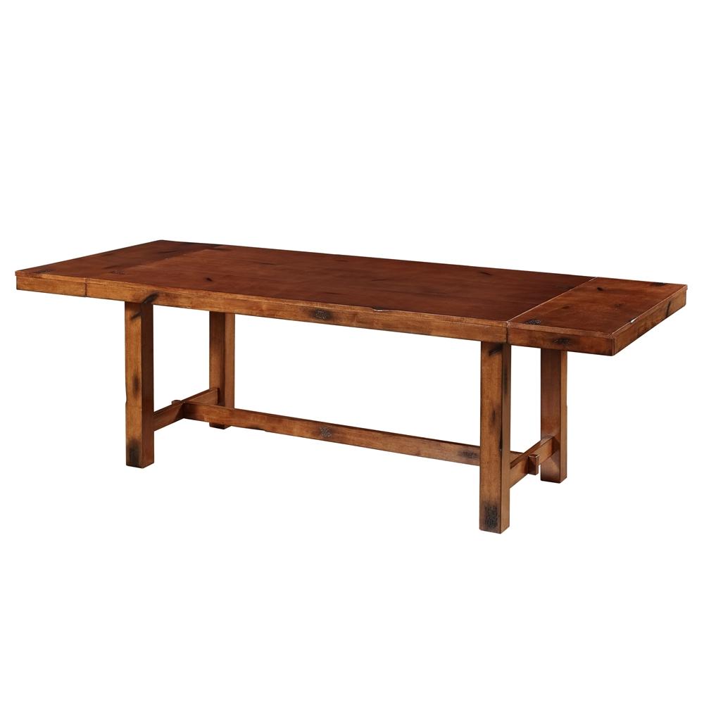 6-Piece Dark Oak Wood Dining Set. Picture 2