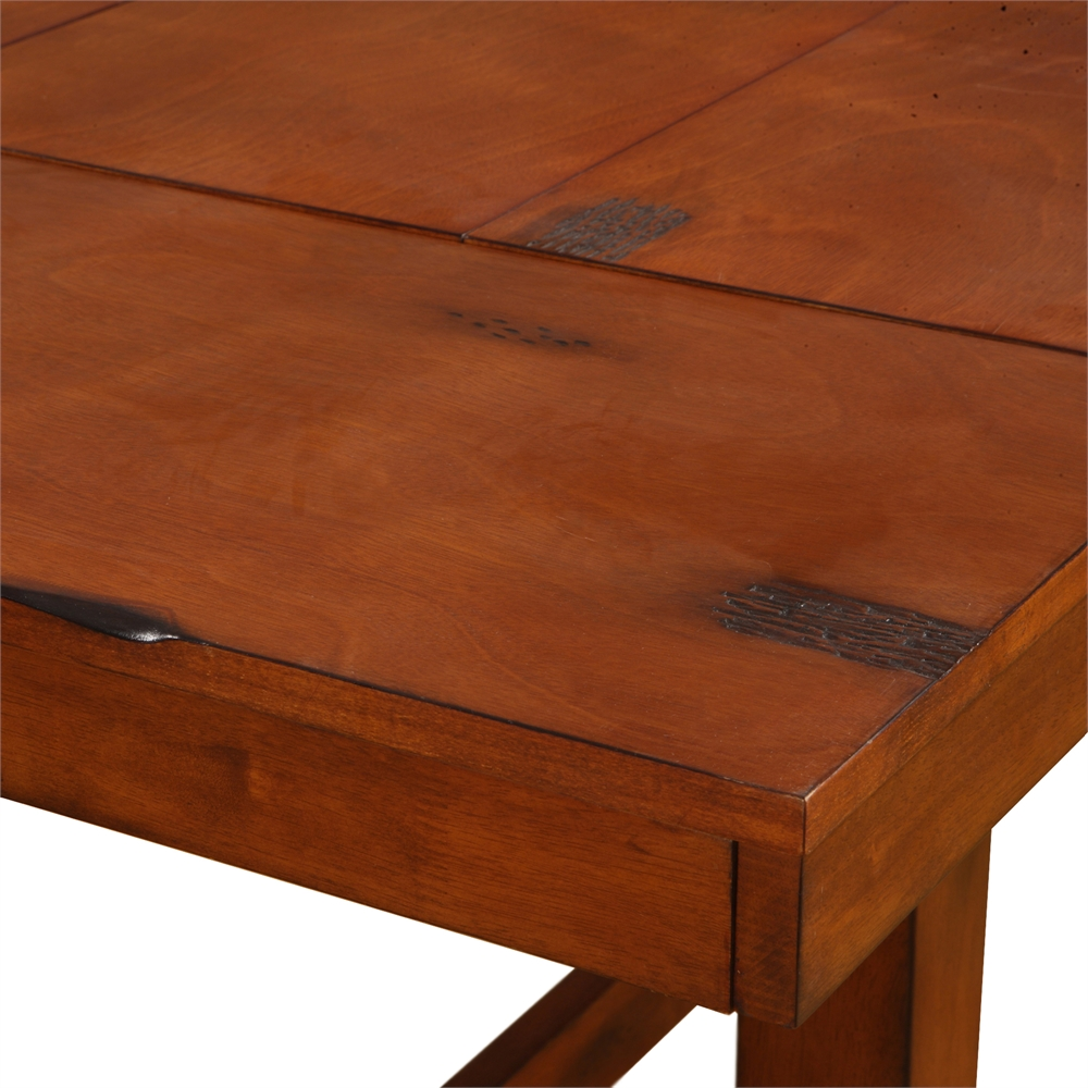 6-Piece Dark Oak Wood Dining Set. Picture 4