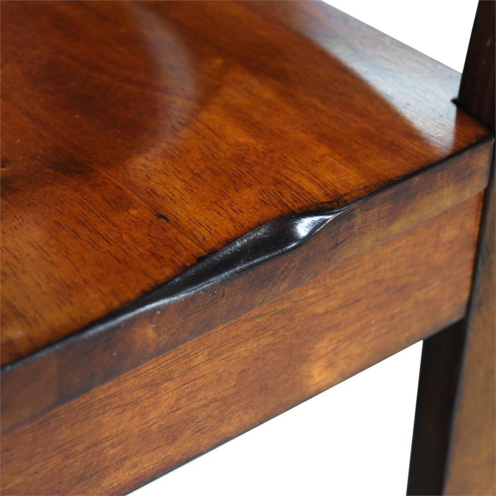 6-Piece Dark Oak Wood Dining Set. Picture 7