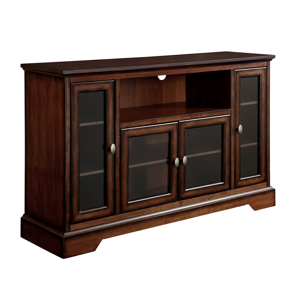 52 Quot Brown Wood Highboy Tv Stand