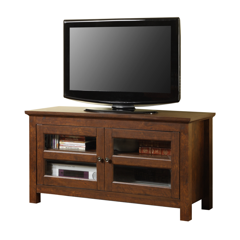 44 Quot Brown Wood Tv Stand Console