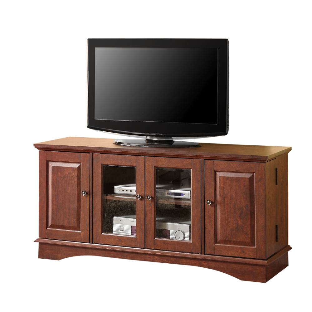 Quot brown wood tv stand console