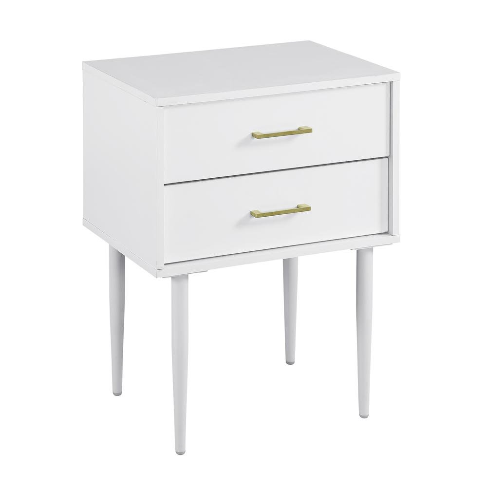 Modern Side Table - White. Picture 1
