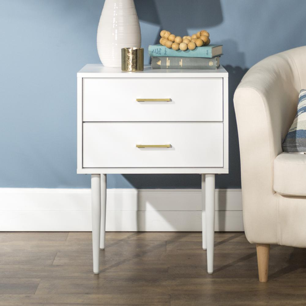Modern Side Table - White. Picture 3