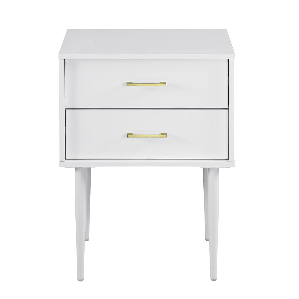 Modern Side Table - White. Picture 4