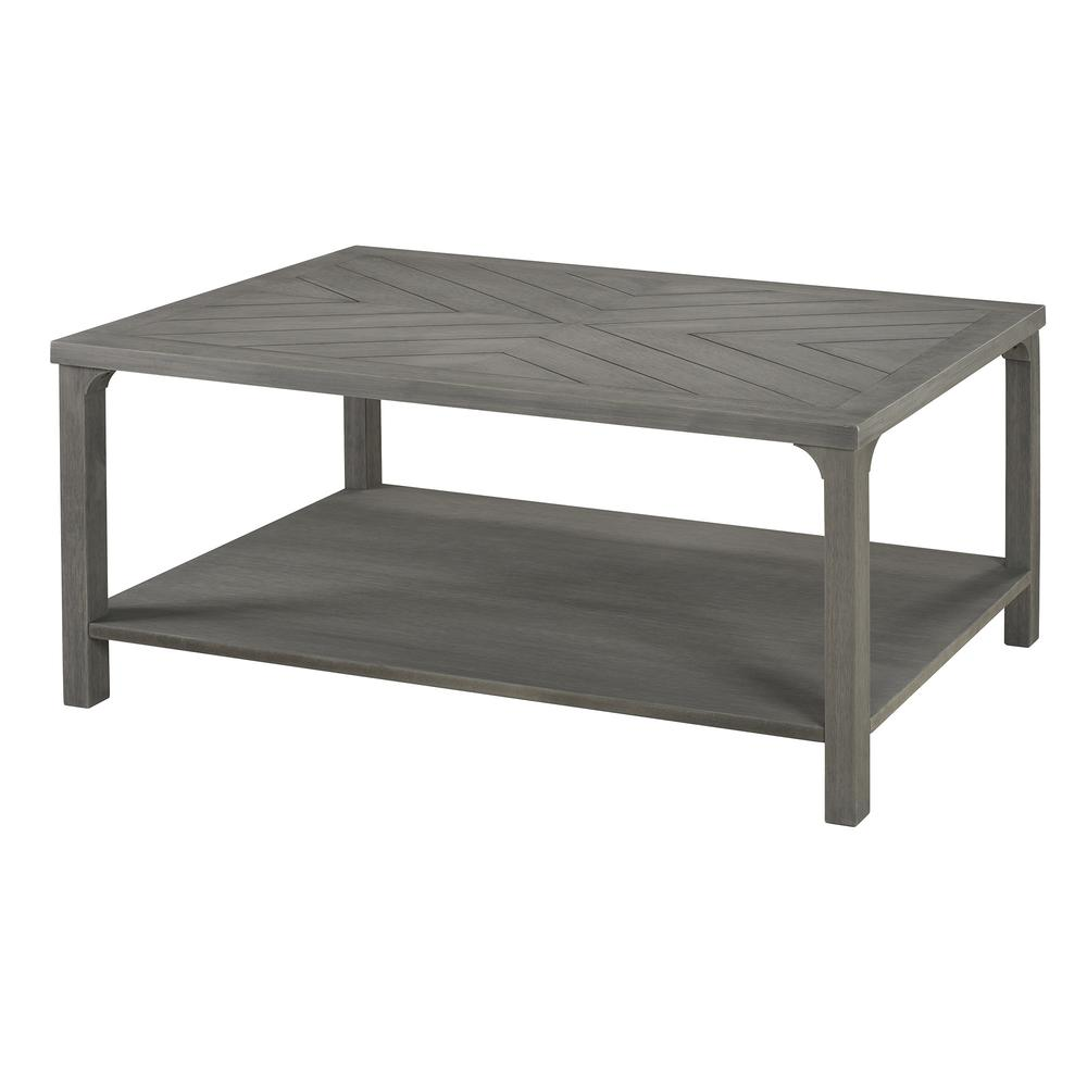 """Grey Solid Wood Coffee Table: 42"""" Solid Wood Chevron Coffee Table"""