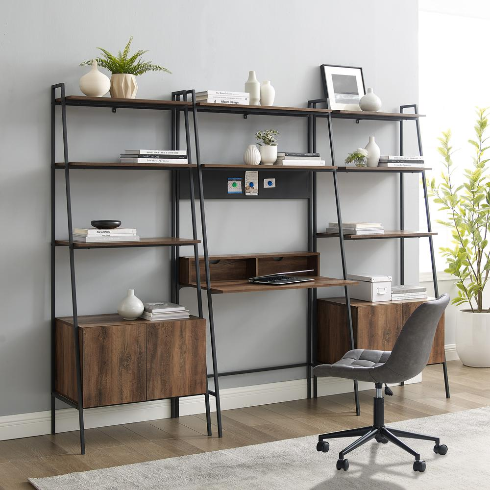 3-Piece Home Office Set - Reclaimed Barnwood. Picture 1