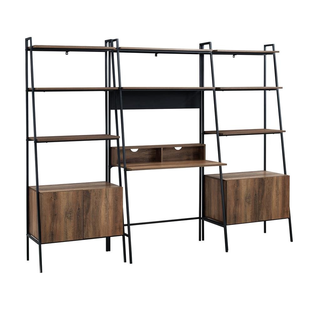 3-Piece Home Office Set - Reclaimed Barnwood. Picture 4