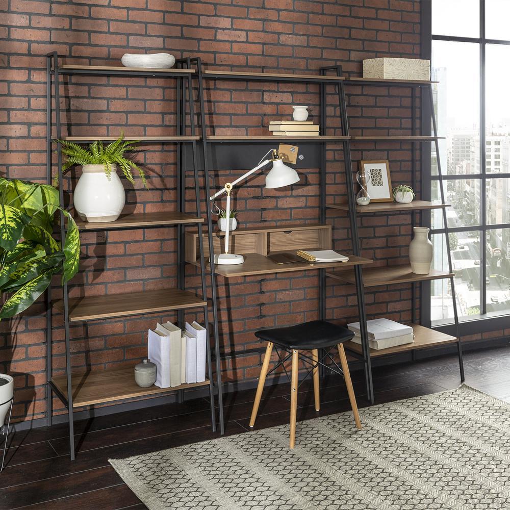 3-Piece Home Office Wood Desk Set - Mocha. Picture 2