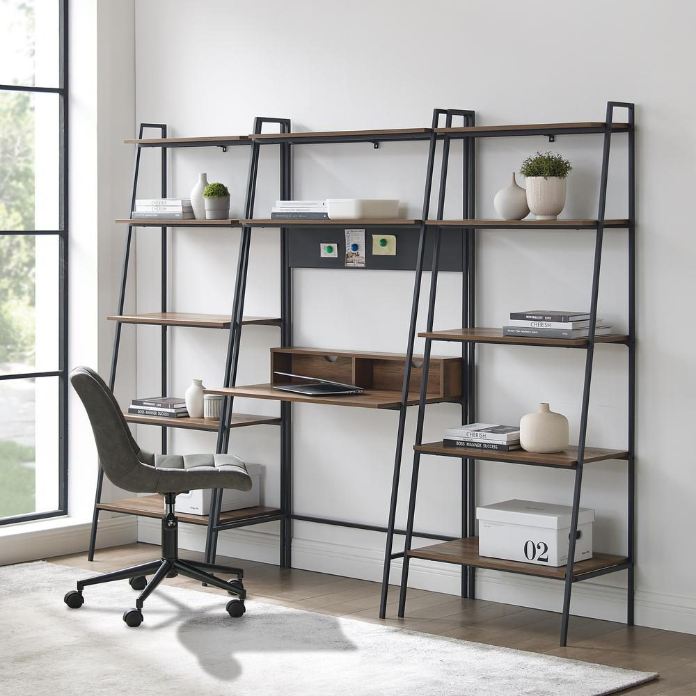 3-Piece Home Office Wood Desk Set - Reclaimed Barnwood. Picture 1