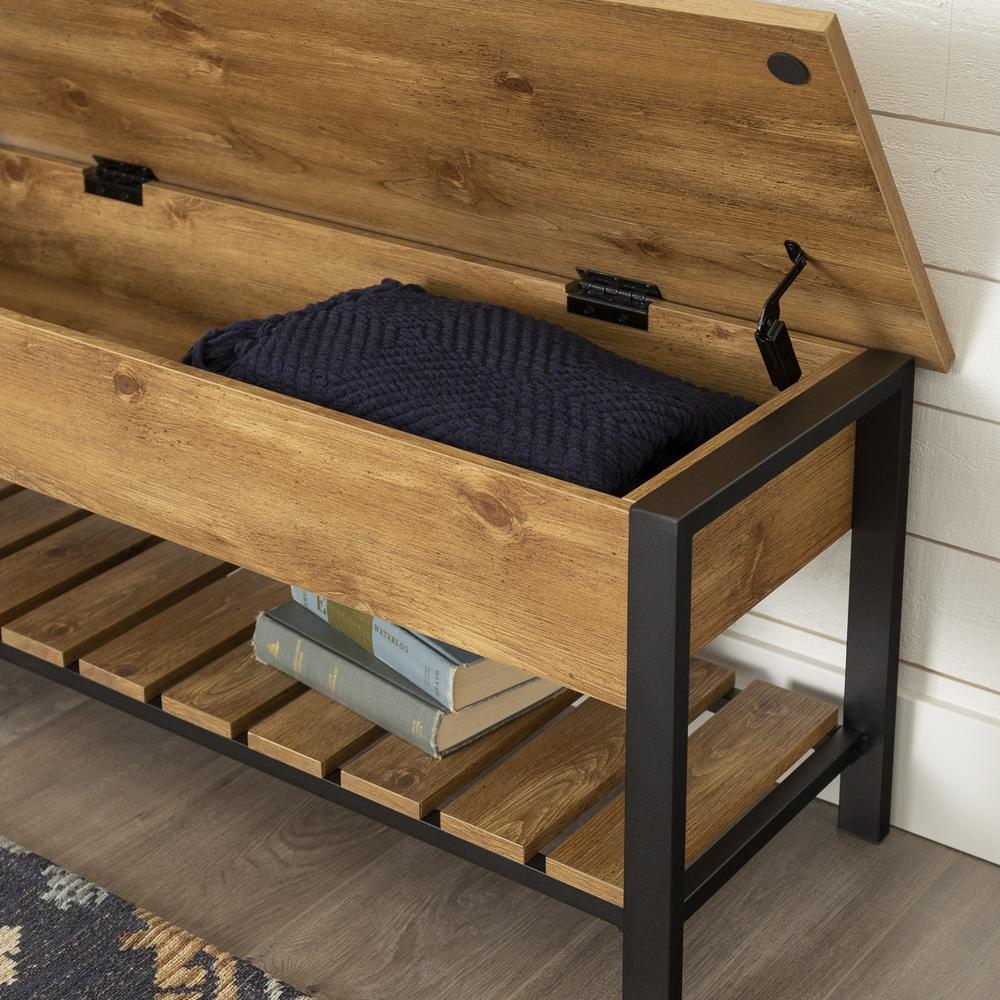 48 Open Top Storage Bench With Shoe Shelf Barnwood,Wall Paint Design Ideas With Tape