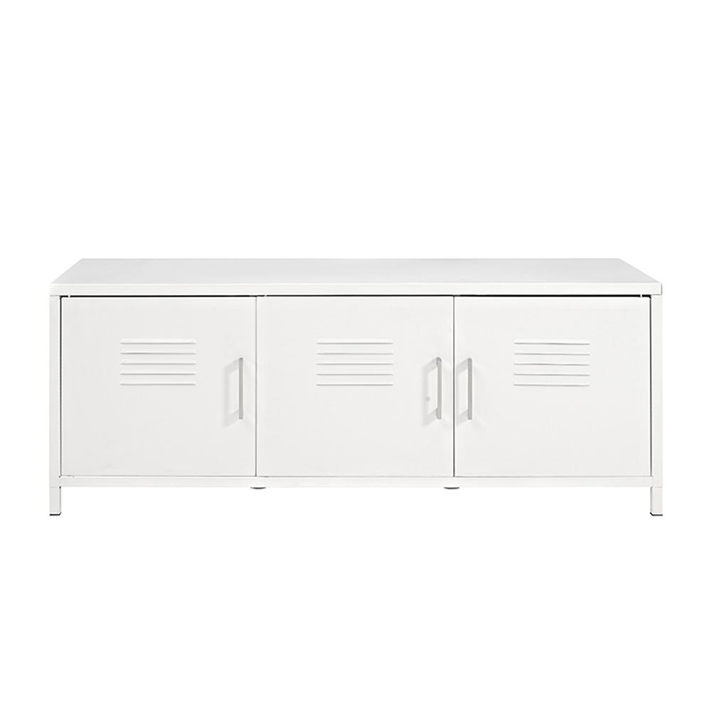 "48"" Metal Locker Style Storage Bench. Picture 1"
